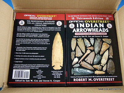 Overstreet Arrowheads Price Guide 13th Edition Cases Indian Arrowhead Artifacts