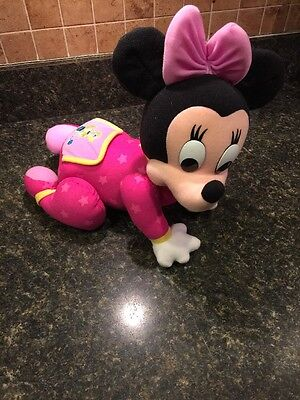 Disney Baby Minnie Mouse Musical Touch & Crawl Doll
