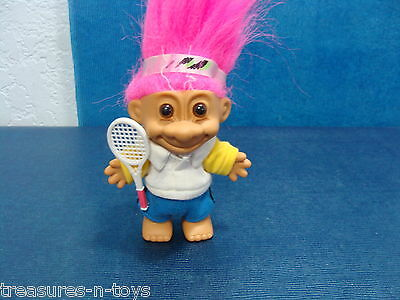 RUSS TROLL DOLL TENNIS PLAYER WITH RACKET