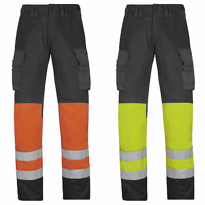 Snickers Hi Vis Trousers. Class 1 (Dirt Repelling) UK SUPPLIER-3833