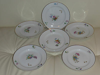 Royal Copenhagen PRIMAVERA Dessert Plates - Set of 6 - 6 3/4""