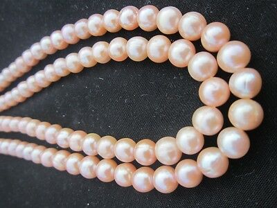 Real photographs of 8-9mm south sea pink Natural pearl necklace 35 inch        !