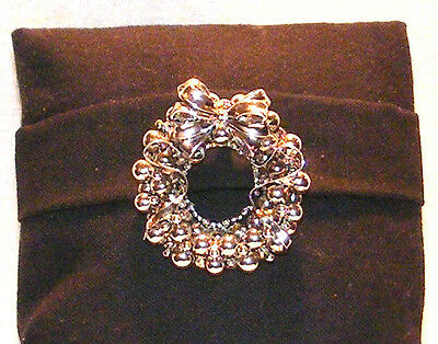 Signed Best Christmas Wreath Brooch Pin Pendant Convertible Sale Reduced Jewelry