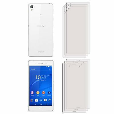 3 FRONT +3 BACK Screen Cover Guard Film Foil For Sony Xperia Z3 experia