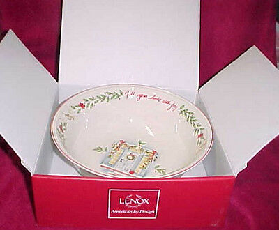 """New in Box Lenox Christmas China Serving Bowl 10"""" Fill Your Home with Joy NIB"""