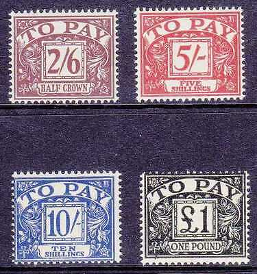 Great Britain #j64-67 Mint Never Hinged High 4 Values Of Set, Cv$73.00 Gp25