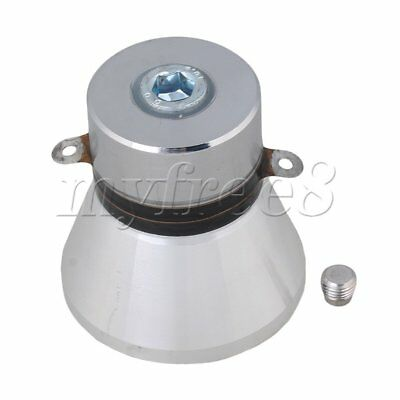 Aluminum Alloy 100W 28KHz Ultrasonic Piezoelectric Transducer Cleaner Silvery