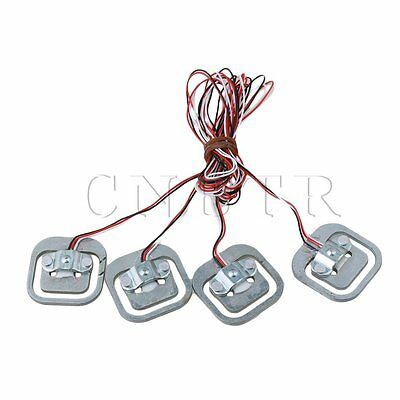 Silver YZC-161B 50kg Aluminium Alloy Human Body Scale Weighing Sensor Pack of 4