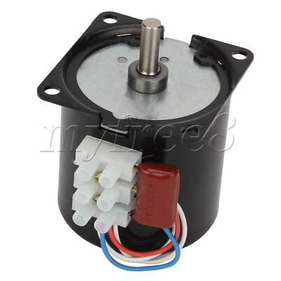 220V AC 5RPM Powerful High Torque Gear Box Synchronous Electric Motor 70mA 50HZ