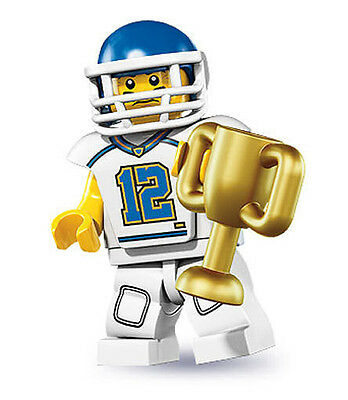 LEGO Series 8 Minifigure - Football Player - New and Mint