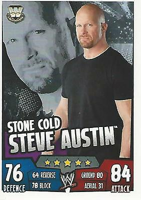 WWE Topps Slam Attax Rumble Trading Card Stone Cold Steve Austin