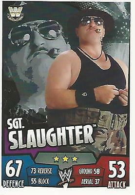 WWE Topps Slam Attax Rumble Trading Card Sgt Slaughter