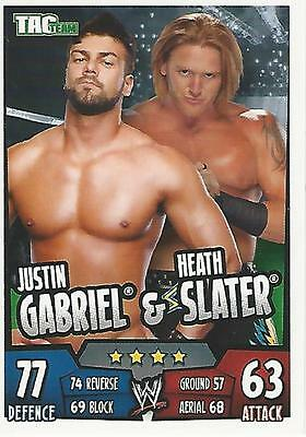 WWE Topps Slam Attax Rumble Trading Card Heath Slater and Justin Gabriel