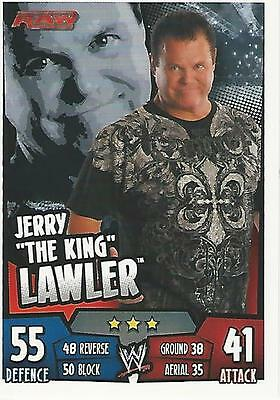 WWE Topps Slam Attax Rumble Trading Card Jerry Lawler