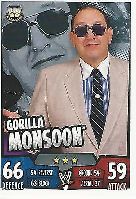 WWE Topps Slam Attax Rumble Trading Card Gorilla Monsoon