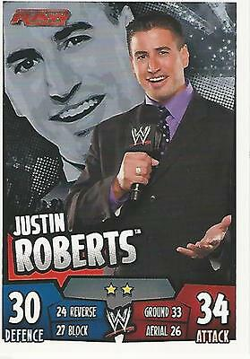 WWE Topps Slam Attax Rumble Trading Card Justin Roberts