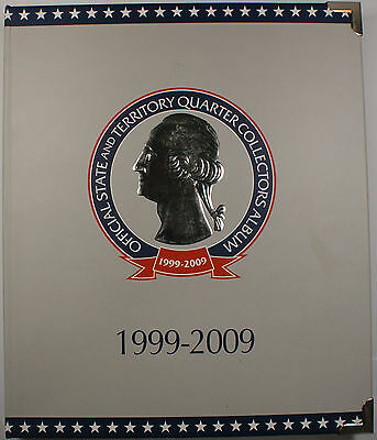 1999-2009 Complete Official UNC State and Territory Quarter Collectors Album