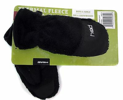Head Toddlers Thermal Fleece Winter Gloves / Mittens~BLACK~Ages 1-6