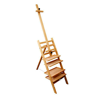 """Paint Station Multi-Function Wooden Easel Comes w/ 4 Removable Shelves 79"""" Tall"""