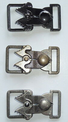 SET OF 3 METAL CLASP CLOSURES FASTENER LOBSTER CHARM CLOAK CLASPS  2 ''x1 1/4'