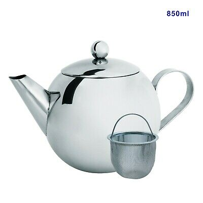 Teapot with Tea Infuser, 920ml/32oz, Stainless Steel, OZ Stock