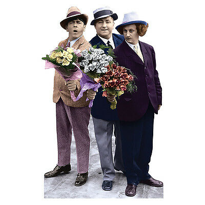 THREE STOOGES Flowers Larry Moe Curly Lifesize CARDBOARD CUTOUT Standup Standee