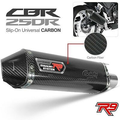 R9 High Performance CBR 250R Slip-On Universal Carbon Motorcycle Exhaust Muffler