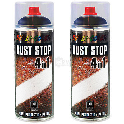 2x Rust Stop 4in1 Rostschutz Spray 400 ml schwarz satin matt 868320 IOQ