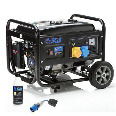 3.75 kVA Heavy Duty Portable Petrol Generator With Wheel Kit, Oil and Flylead