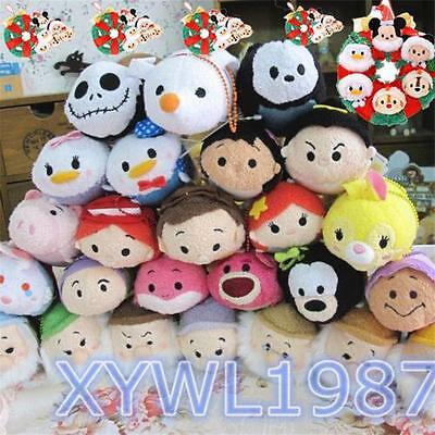 "Tsum TSUM 3.5"" Lovely Plush Mini doll Stackable Toy Phone Accessories Xmas Gift"