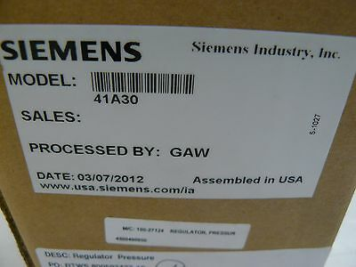 New Siemens 41A30 pressure regulator
