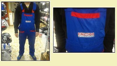 Tuta salopette suit moto minimoto meccanico officina workshop KYMKO blu red XL