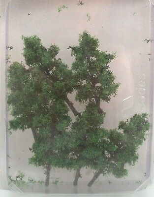 Tree -  Conifers Forest Green  TRE2FG  model scenery O Scale 6 trees MBS