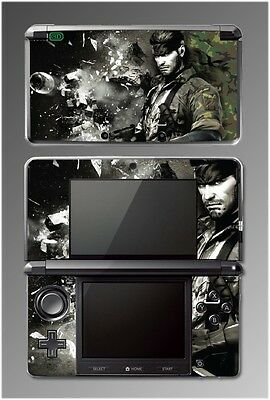Metal Gear Solid 3 MGS Snake Eater Eva 3D Video Game SKIN Cover Nintendo 3DS