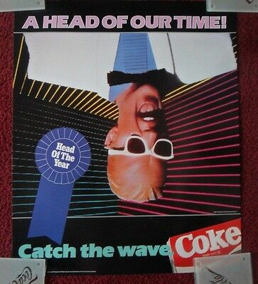 Classic Max Headroom Coke Coca-Cola Advertising Poster ~ HEAD of the YEAR
