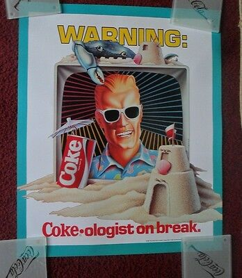 Classic Max Headroom Coke Coca-Cola Advertising Poster ~ Coke-Ologist on BREAK