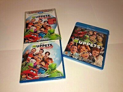 Muppets Most Wanted(Blu-ray/DVD+Digital HD Ultraviolet,2014,2-Disc Set)Slipcover