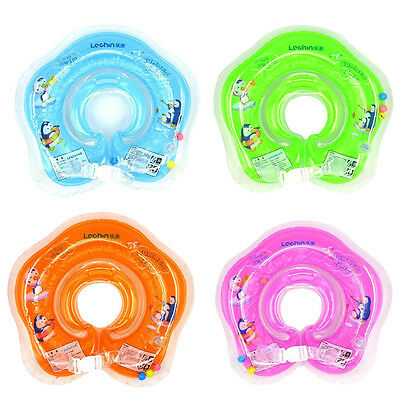 Cartoon Air Inflation Inflatable Swim Neck Ring Baby Swimming Neck Float Ring