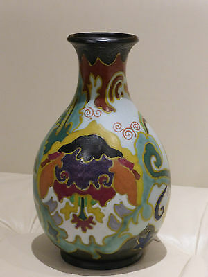 Early Gouda Holland Matte Glazed Vase - Rare and Impressive - 10 1/8""