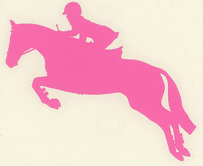 Hunter Jumper Horse Decal Sport Pony Rider Equestrian Trailer Med PInk Sticker