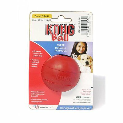 Kong Red Rubber Ball for Dogs Small - Play, Fetch, Retrieve