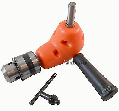 "Angle Adaptor Metal Gear 90 DEGREE Right Angle Drill Attachment 3/8"" Chuck"