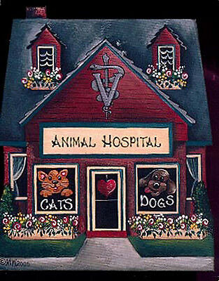 Brandywine Collectible Downtown Houses & Shop THE ANIMAL HOSPITAL Vet Veterinary