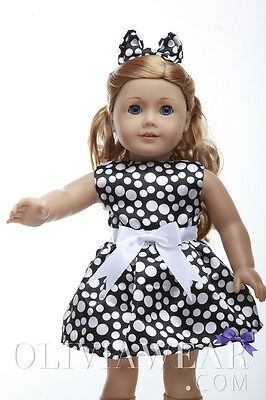 American girl doll clothes handmade dress Collection #53 Fits 18 inch Dolls