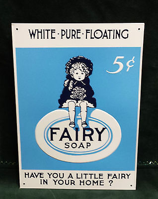 Fairy Soap Embossed metal sign