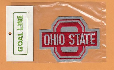 OLD OHIO STATE BUCKEYES LARGE 4 inch LOGO PATCH UNUSED STILL PACKAGED IRON ON