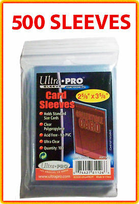 500 ACEO Art Card Sleeves Clear Plastic ACID FREE Polypropylene ATC Storage Case