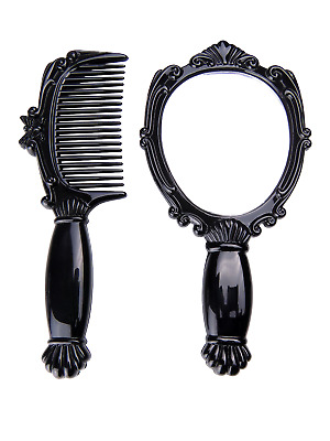 Dlux Professional Mirror & Comb Set / Small Size / Eyelash Extension/ Make Up