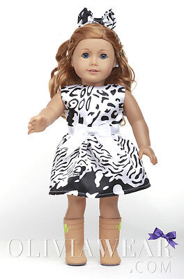 American girl doll clothes handmade dress Collection #55 Fits 18 inch Dolls