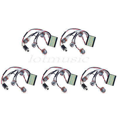 5 Pcs Belcat 2 Band Active EQ Preamp Circuit for Bass Pickup Parts